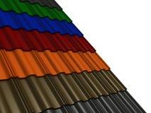 O close up telhou a rendição do telhado 3d Imagens de Stock Royalty Free