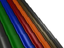 O close up telhou a rendição do telhado 3d Imagem de Stock