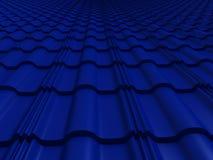 O close up telhou a rendição do telhado 3d Fotos de Stock Royalty Free