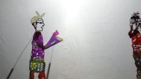 O close-up tradicional chinês da mostra da desempenho-sombra video estoque