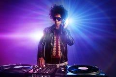 O clube nocturno DJ party Fotos de Stock