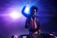 O clube nocturno DJ party Foto de Stock