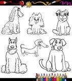 O cão dos desenhos animados produz a página da coloração Foto de Stock
