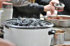 o coalho de feijão preservado decheiro/fermentou o coalho de feijão com coalho do cheiro/feijão com odor fotografia de stock royalty free