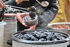 o coalho de feijão preservado decheiro/fermentou o coalho de feijão com coalho do cheiro/feijão com odor fotos de stock royalty free