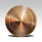 O cobre acena a moeda isolada na rendição branca do fundo 3d Foto de Stock