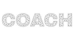 2.o COCHE poligonal Text Label stock de ilustración