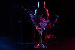 O cocktail com espirra Foto de Stock