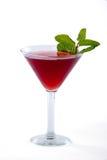 O cocktail vermelho de Martini com hortelã decora Imagem de Stock Royalty Free
