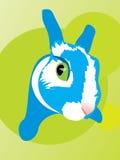 O coelho caiu o medo animal do olho do coelho do susto ilustração royalty free