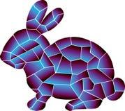 O coelho, 2 cores é grande combinação ilustração royalty free