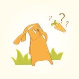 O coelho está procurando cenouras Imagens de Stock Royalty Free