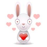 O coelho guarda o coração grande Imagem de Stock