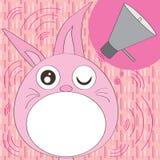 O coelho ouve-se para falar ilustração do vetor