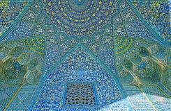 O cofre-forte do portal, madraseh de Chaharbagh, Isfahan, Irã Fotografia de Stock