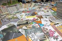 O colapso e a venda dos livros na pintura chinesa e no chinês p fotos de stock royalty free