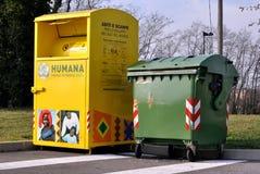 Escaninho da caridade em Italia Imagens de Stock