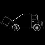 O coletor de lixo é um carro especial Fotografia de Stock