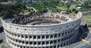 O coliseu romano video estoque