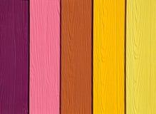 O colorido da madeira artificial Fotografia de Stock