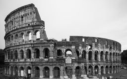 O colosseum em preto e branco Fotografia de Stock Royalty Free
