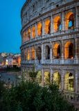 O Colosseum em Roma no por do sol fotografia de stock royalty free