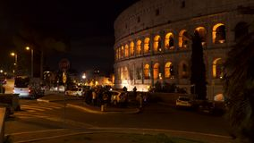 O Colosseum na noite, Roma, Itália filme