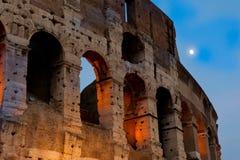 O Colosseum, nivelando a vista, Roma, Itália Imagem de Stock Royalty Free