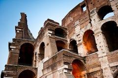 O Colosseum, nivelando a vista, Roma, Itália Fotografia de Stock Royalty Free