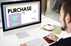 O comércio de compra da compra obtém o conceito da compra Fotos de Stock Royalty Free