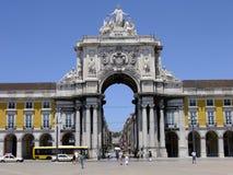 O comércio Lisboa quadrada, Praca faz Comercio Fotografia de Stock