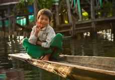 O comércio para os povos de Burma é a fonte de ingressos principal Foto de Stock Royalty Free