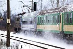 Comboio de passageiros fotos de stock royalty free
