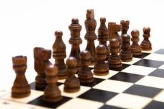 O começo de um jogo de xadrez Imagens de Stock Royalty Free