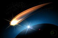 O cometa ilustração stock