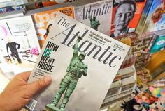 O compartimento atlântico em uma mão fotos de stock