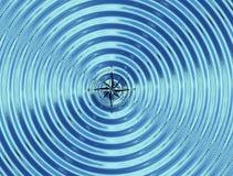 O compasso (o vento aumentou) na água Foto de Stock