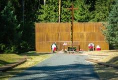 O complexo do memorial em Katyn na região de Smolensk de Rússia Imagem de Stock Royalty Free