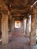 O complexo do templo de Hampi, um local do patrimônio mundial do UNESCO em Karnataka, Índia imagem de stock