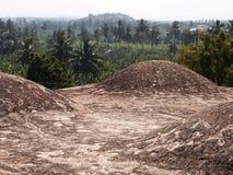 O complexo do templo de Hampi, um local do patrimônio mundial do UNESCO em Karnataka, Índia fotos de stock royalty free