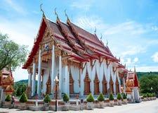 O complexo do templo de Wat Chalong em Phuket, Tailândia imagem de stock