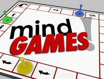 O comportamento da psicologia da placa dos jogos de mente engana a emoção da psicologia Fotografia de Stock Royalty Free