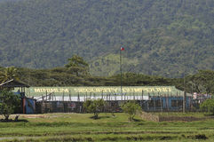 O composto de segurança mínimo da prisão de Iwahig foto de stock