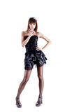 O comprimento cheio disparou da empregada doméstica francesa 'sexy' Foto de Stock Royalty Free