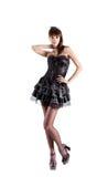 O comprimento cheio disparou da empregada doméstica francesa 'sexy' Imagem de Stock