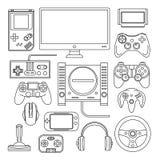 O computador, console digital do jogo online video, jogo utiliza ferramentas o vetor s ilustração stock