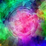 O computador do arco-íris rendeu o sumário, ilustração do vetor