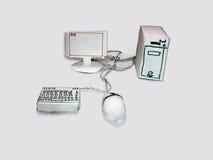 O computador feito do papel Imagem de Stock Royalty Free