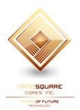 O computador Nano da tecnologia retira o núcleo do sinal do logotipo Imagens de Stock Royalty Free