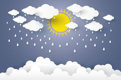 O conceito é estilo de papel da arte da estação das chuvas Imagem de Stock Royalty Free